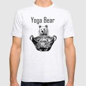 yoga-bear-bw-tshirts