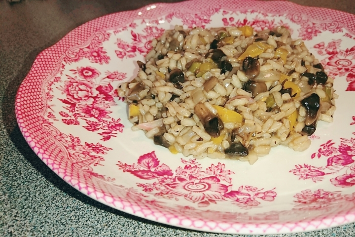 Risotto on plate