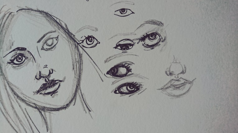Doodles and eyes