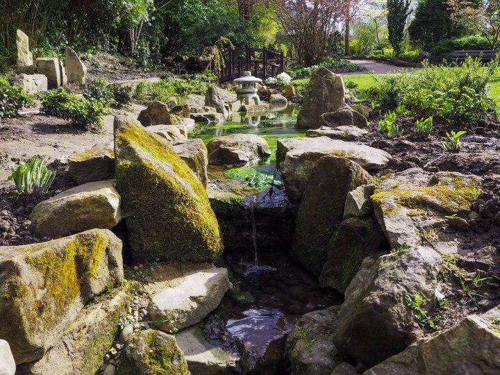 Into the gardens