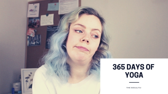 The year I completed 365 days of yoga